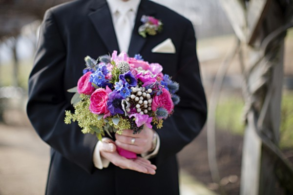 Wedding Bouquet Pink Blue : Hillsborough vineyards wedding from holly chapple flowers