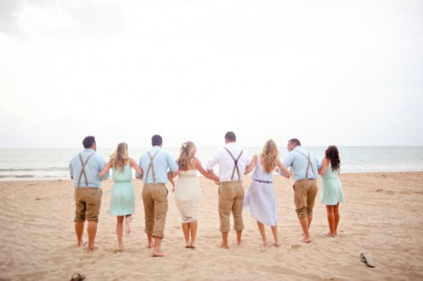 Laid-Back-Beach-Wedding-Bridal-Party