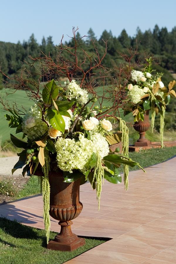 Large Floral Manzanita Hydrangea Urn Arrangement