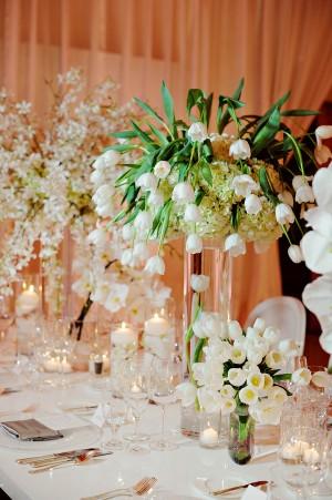 Large White Tulip Centerpiece Elizabeth Anne Designs The Wedding Blog