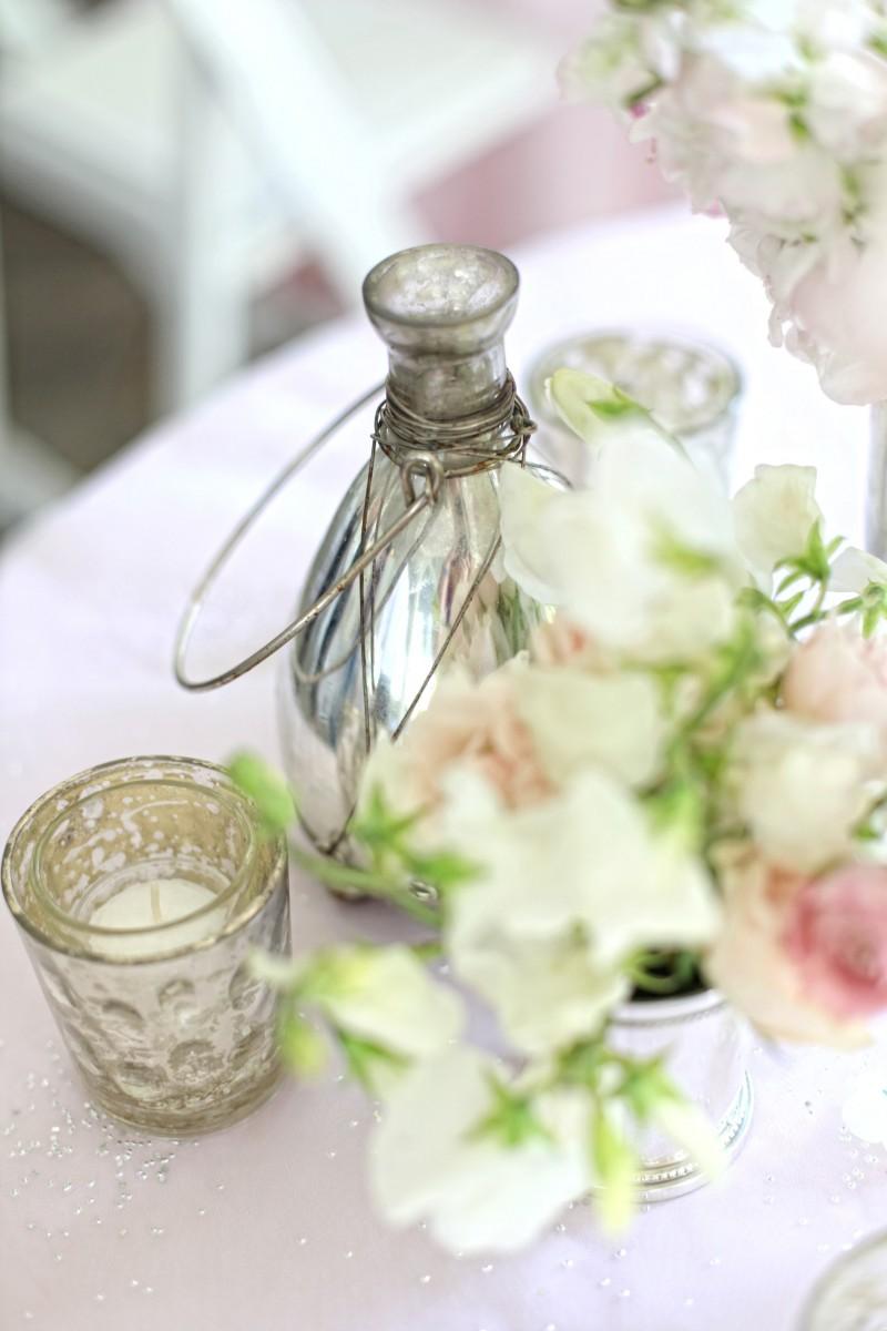Mercury glass vase centerpiece elizabeth anne designs