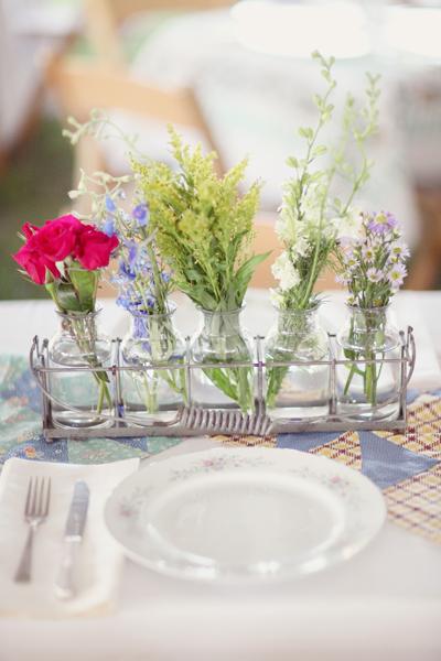 Multiple Bud Vase Centerpiece Elizabeth Anne Designs The Wedding Blog