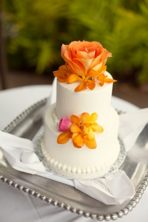 Orchid-Rose-Wedding-Cake