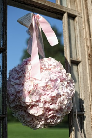 Pink-Hydrangea-Pomander