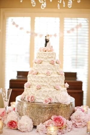 Pink-Rose-Wedding-Cake