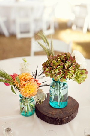 Rustic-Ball-Jar-Centerpieces