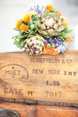 Safflower-and-Artichoke-Wedding-Bouquet
