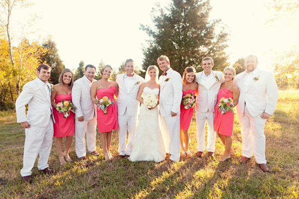 Salmon-and-Seersucker-Bridal-Party