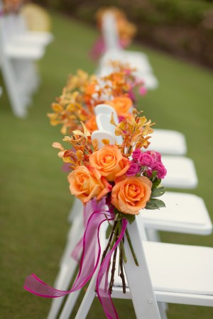 Tangerine-Fuschia-Ceremony-Flowers