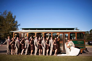 Trolley-Bridal-Party-Photo