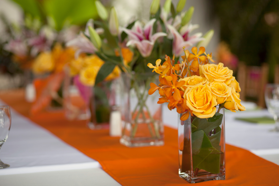 Tropical Wedding Reception Flowers Elizabeth Anne Designs The