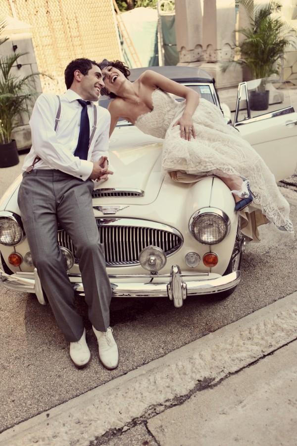 Vintage-Car-Wedding-Portraits - Elizabeth Anne Designs: The Wedding Blog
