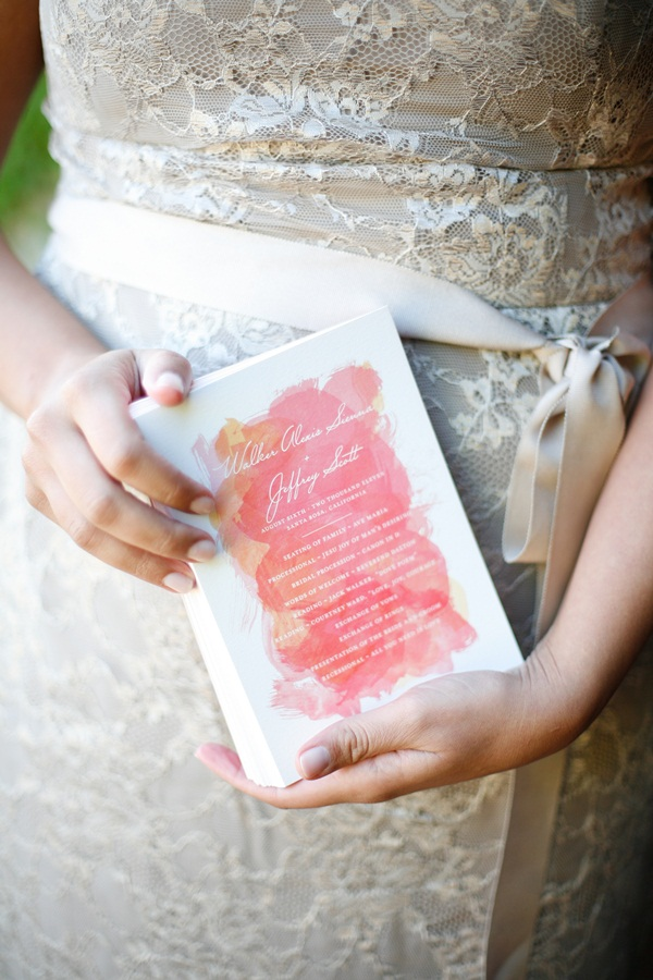 watercolor wedding programs invitations elizabeth anne designs