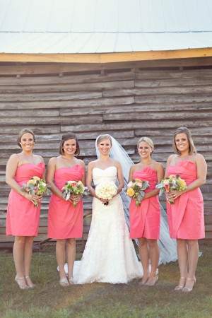 Watermelon-Bridesmaids-Dresses