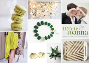 Chartreuse-and-Emerald-Wedding-Inspiration-Board