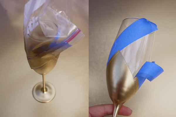 DIY-Gold-Spray-Champagne-Flutes