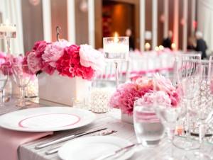 Elegant-Pink-Silver-Centerpiece