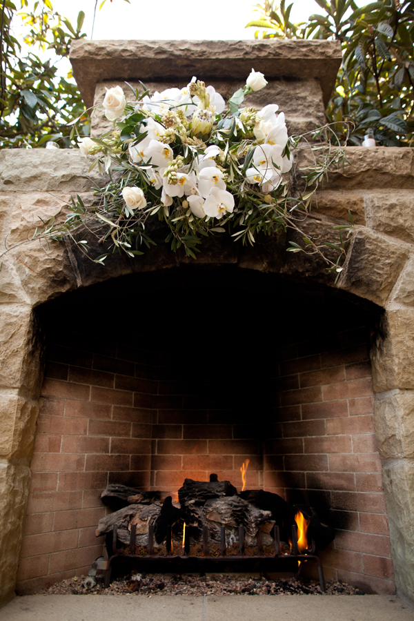 Fireplace Wedding Ceremony Backdrop Elizabeth Anne Designs The