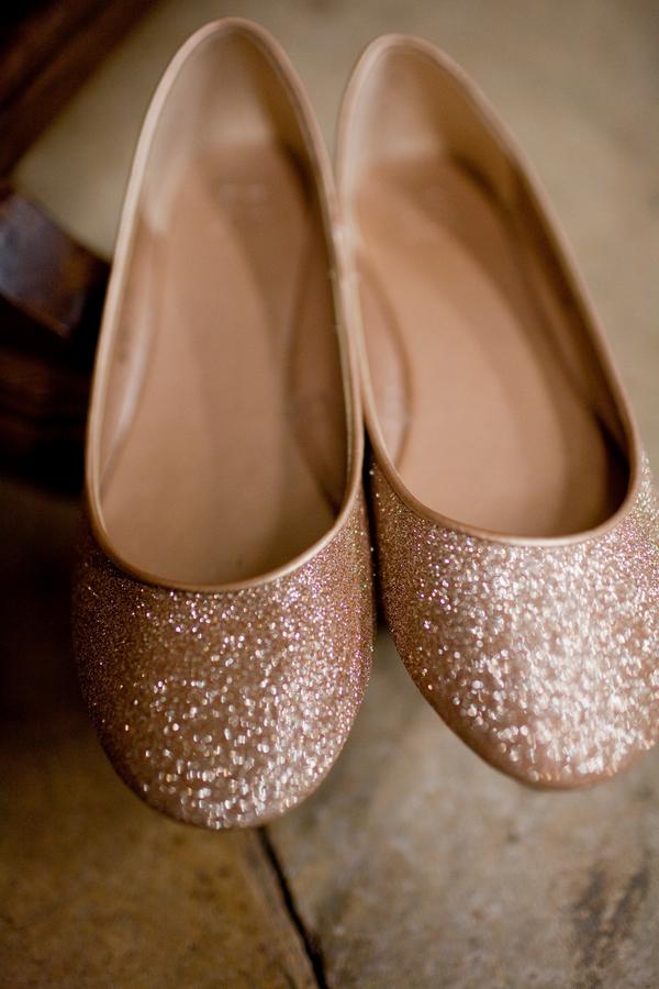 goldglitterflatweddingshoes elizabeth anne designs