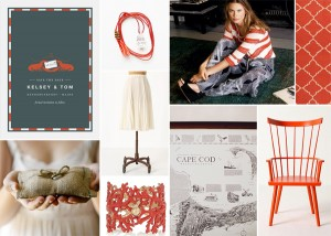 Maine-Orange-and-Gray-Wedding-Inspiration-Board