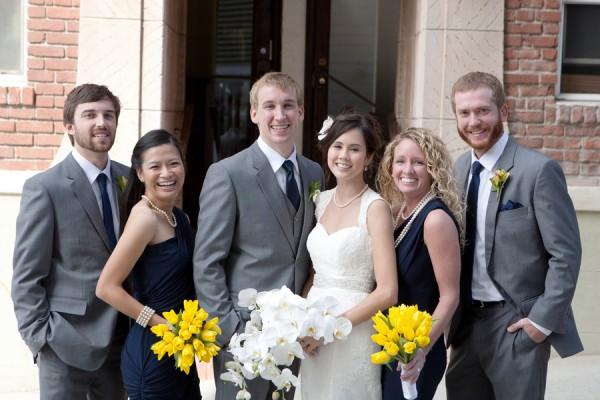 Navy-Yellow-Grey-Bridal-Party - Elizabeth Anne Designs: The ...