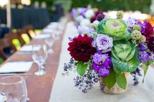 Purple-Burgundy-Wedding-Centerpiece