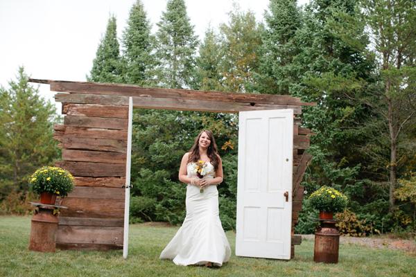 Reclaimed Wood Doors Wedding Ceremony Entrance