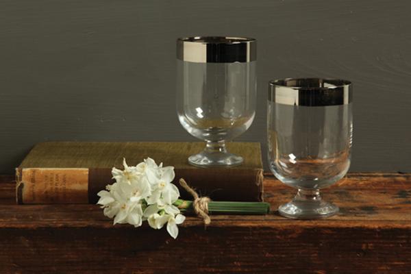 Silver-Rimmed-Glasses-Goblets
