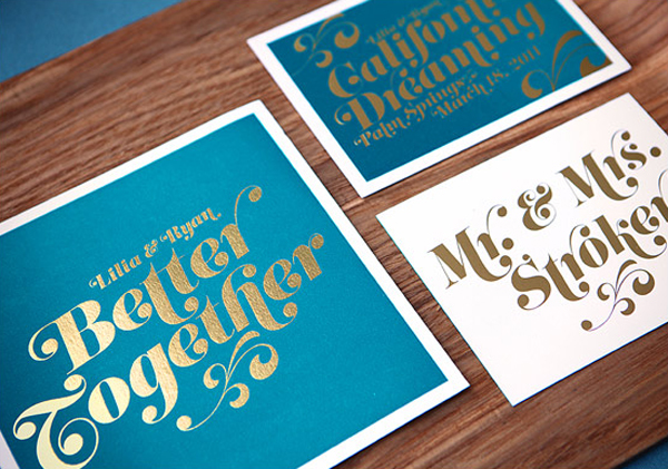 Teal-and-Gold-Foil-Wedding-Invitation