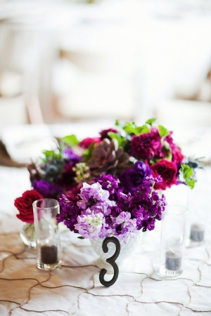 Violet-and-Raspberry-Centerpiece