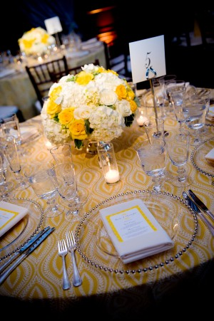 Wedding Decoration Yellow And White