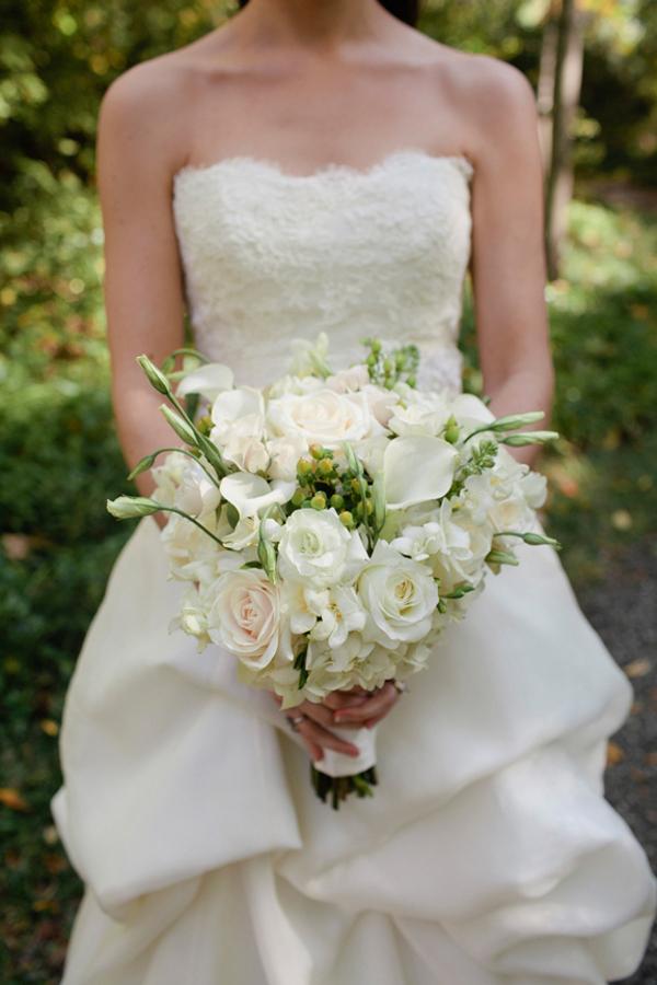 All White Wedding Bouquet Elizabeth Anne Designs The