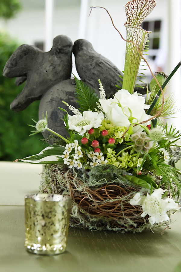 Bird Nest Inspired Rustic Wedding Centerpiece Elizabeth
