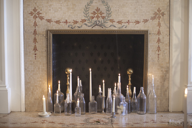 Candles In Fireplace Ideas candle-filled-fireplace - elizabeth anne designs: the wedding blog