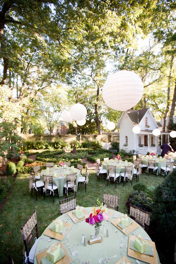 Elegant Backyard Wedding Reception Elizabeth Anne Designs The