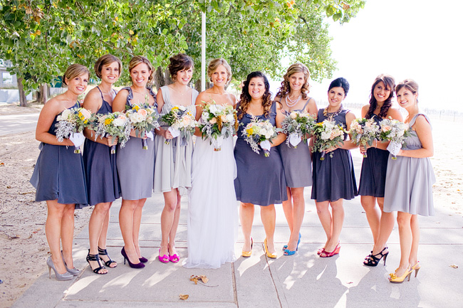 Elise Bergman Blue Gray Bridesmaids Dresses Elizabeth Anne Designs The Wedding Blog