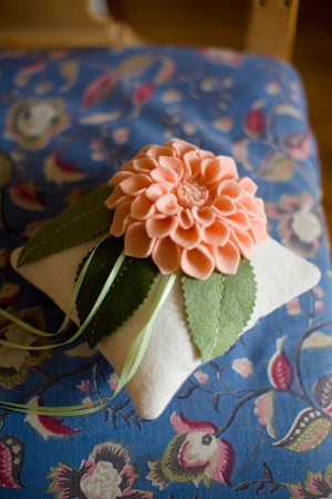 Fabric-Flower-Ring-Pillow