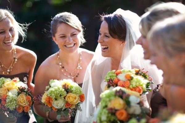 Fall-Colored-Bridesmaids