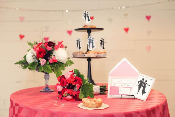 Funky Vintage Valentines Day Wedding Ideas Elizabeth Anne Designs