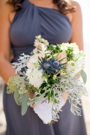 Gray-Peach-Handkerchief-Tied-Bouquet