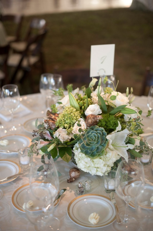 Succulent Wedding Centerpieces.Green And White Succulent Wedding Centerpiece Elizabeth Anne