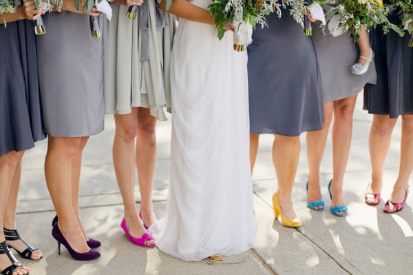 Bridesmaids Shoes | Multicolor Bridesmaids Shoes Elizabeth Anne Designs The Wedding Blog