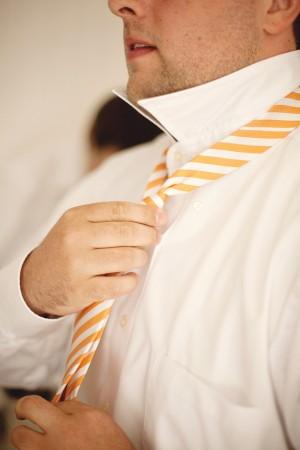 Orange-and-White-Striped-Tie