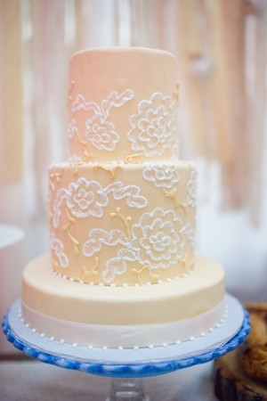 Peach-and-Lace-Wedding-Cake