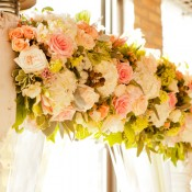 Pink-Green-Floral-Wedding-Arbor