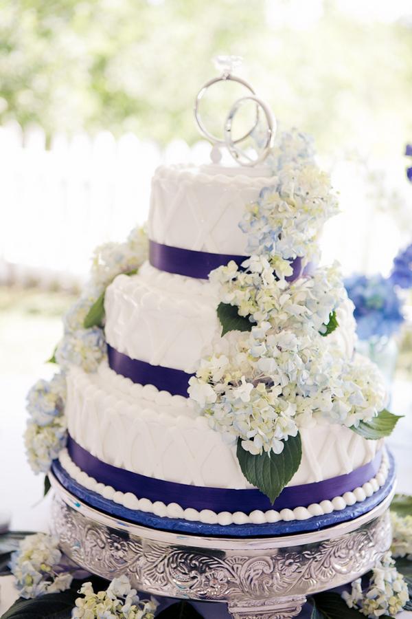 Purple Hydrangea Wedding Cake Elizabeth Anne Designs