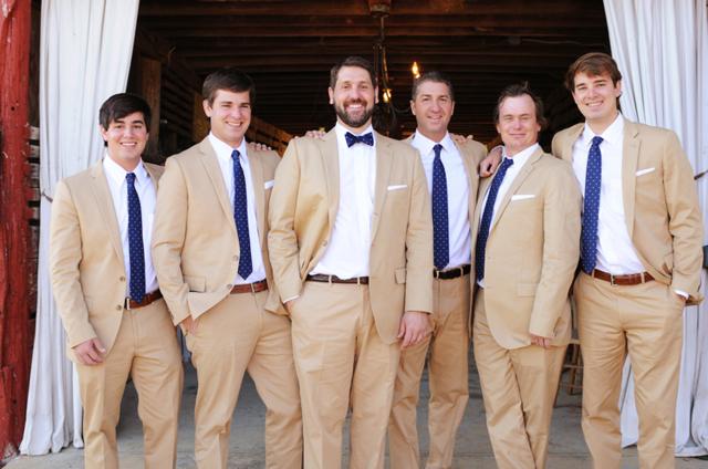 Tan-Groomsmen-Suits - Elizabeth Anne Designs: The Wedding Blog
