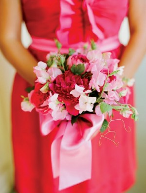 Vibrant-Red-Peony-and-Pink-Sweet-Pea-Bouquet