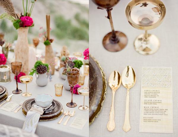 vibrant-vintage-silver-gold-fuchsia-tablescape