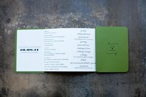 Accordion-Wedding-Program